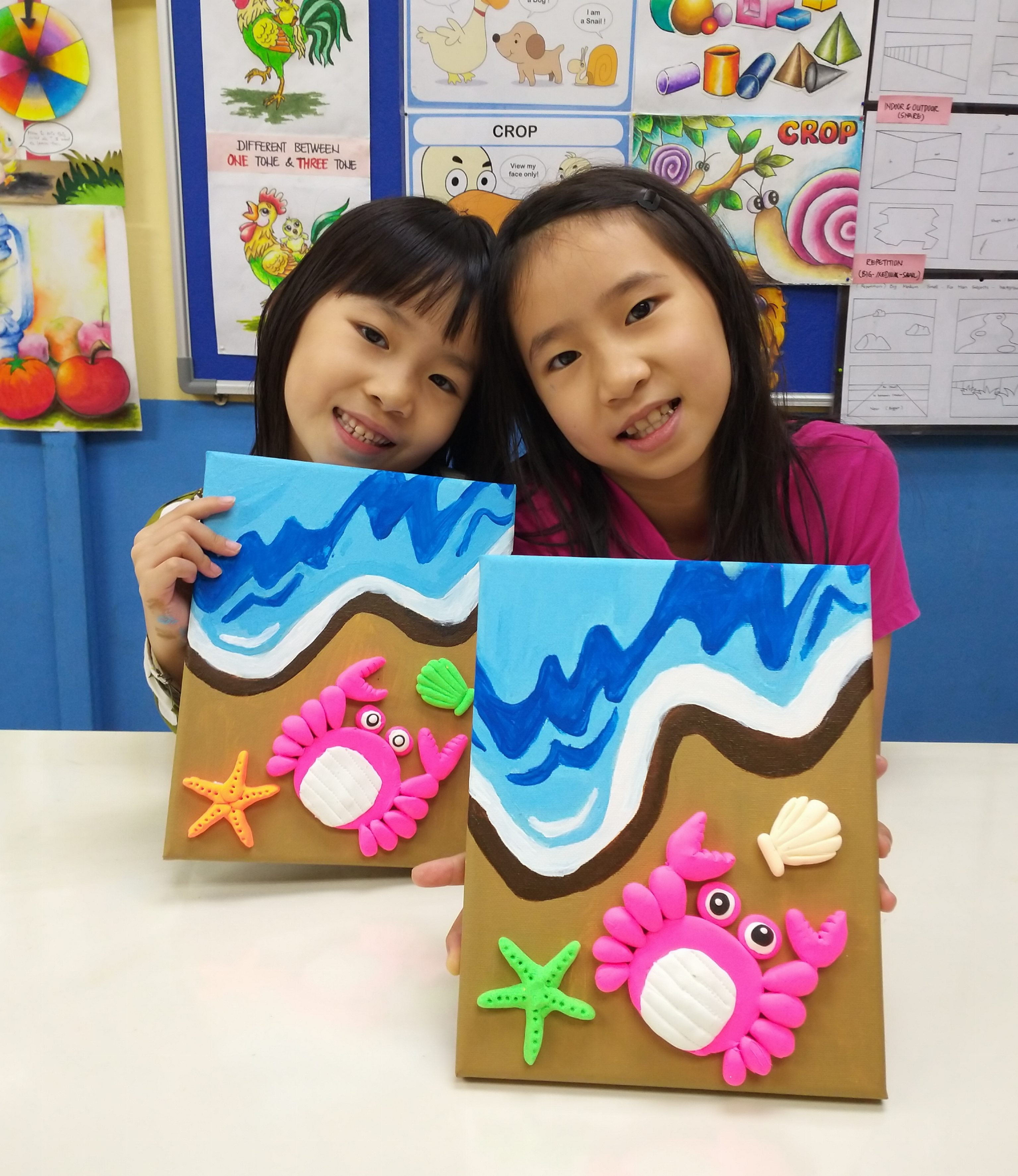 Year End School Holiday Workshop Program – 3D Clay Canvas Painting