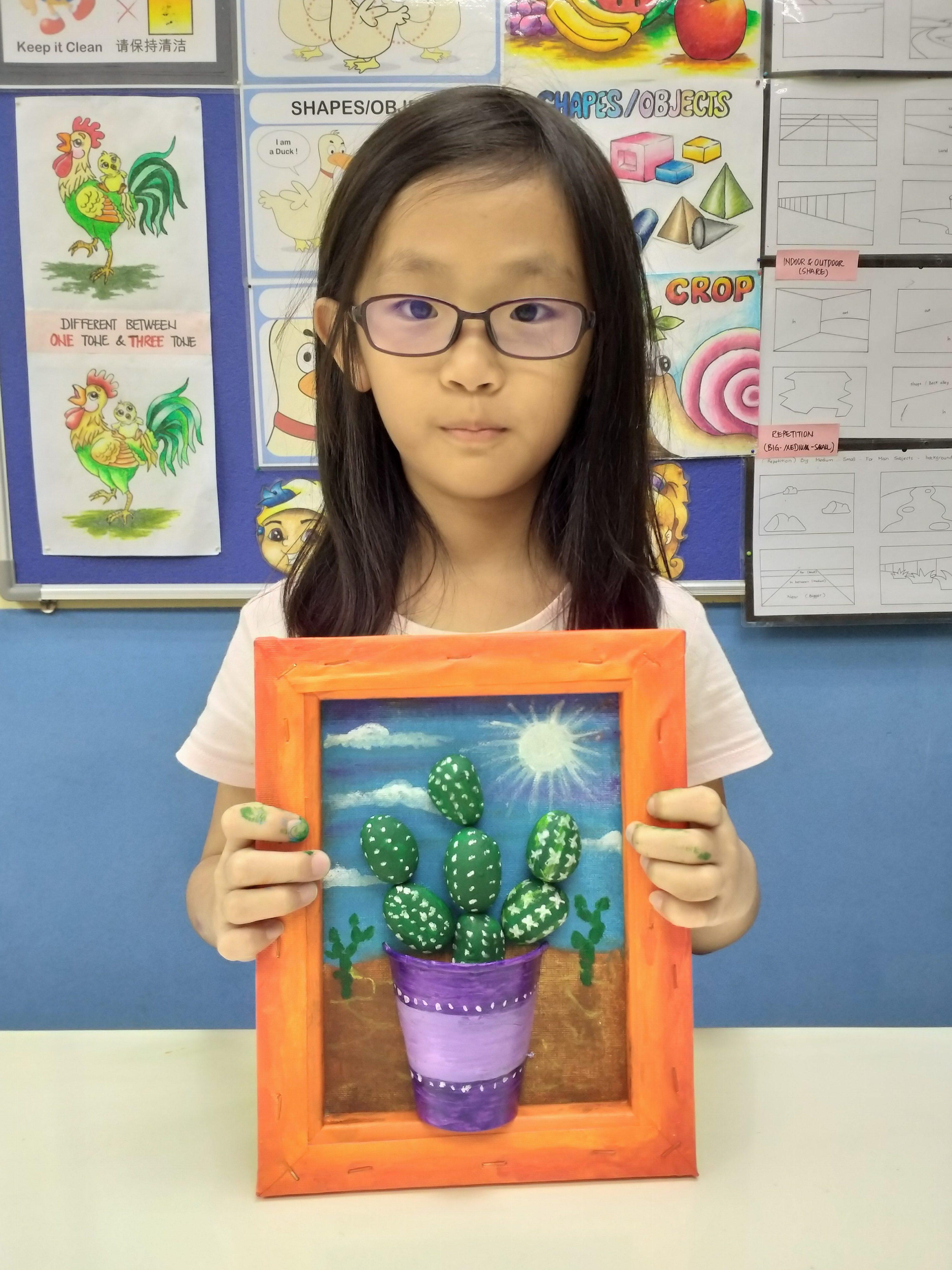 Deco Art Workshop – Cactus Decor Pebbles Art