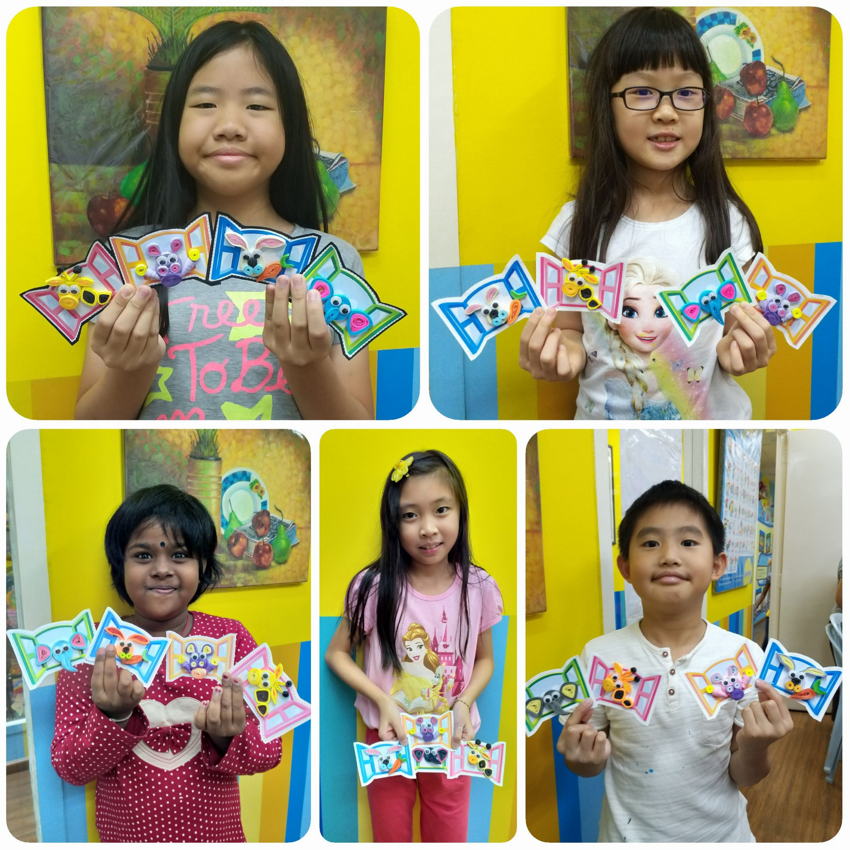 2019 Year End School Holiday Workshop ~ Deco Art ~ Quilling Craft – Peek-A-Boo Animal Magnets