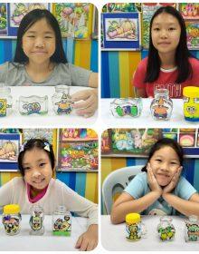 2019 Year End School Holiday Workshop ~ Deco Art ~ Glass Bottle Painting Craft – Spongebob & Friends