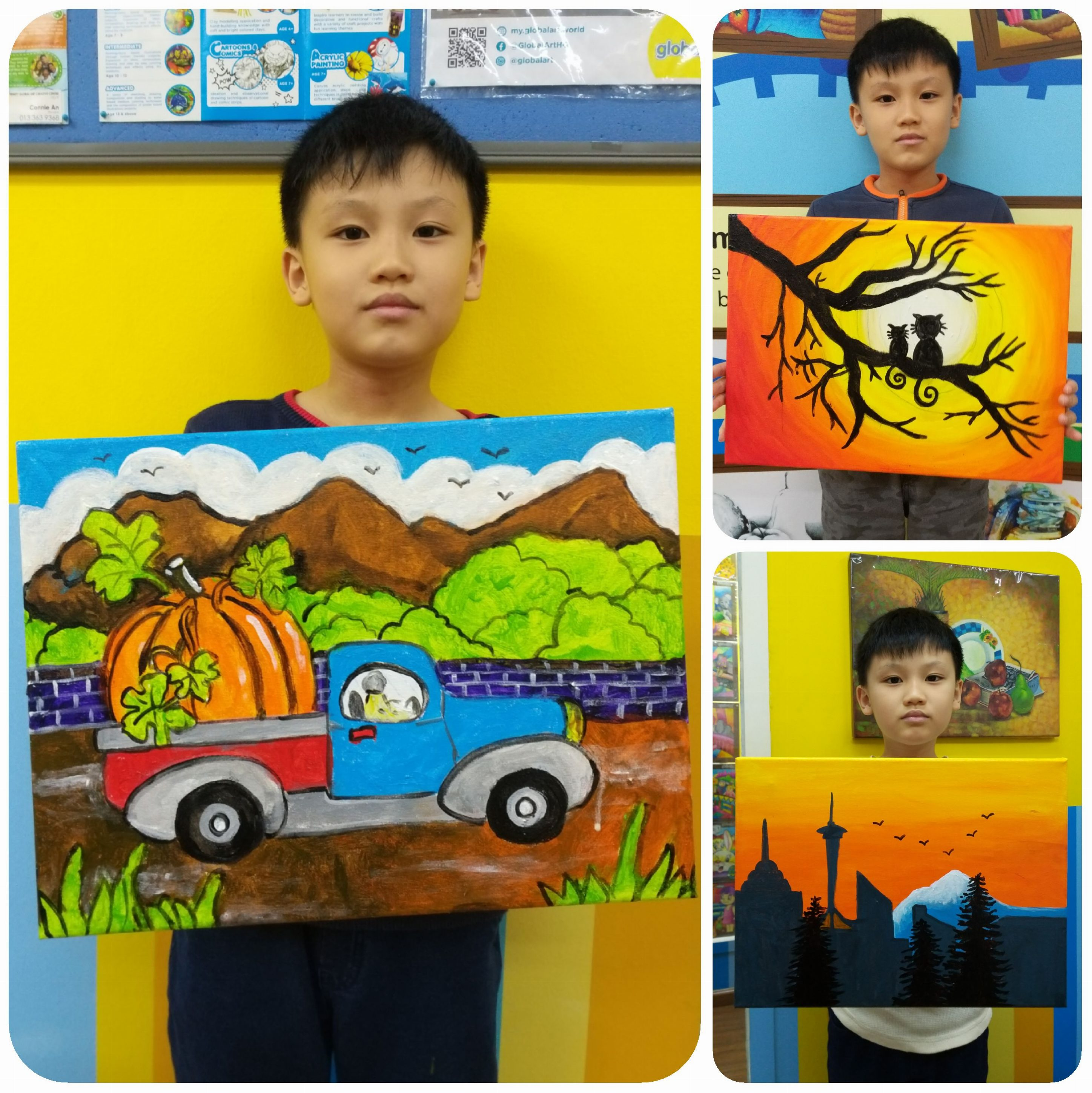 2019 Year End School Holiday Workshop ~ Acrylic Painting