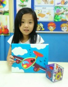 School Holiday Workshop Program – 3D Clay Painting & Glass Painting Art