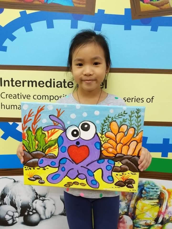 Year End School Holiday Workshop Program – Acrylic Canvas Painting