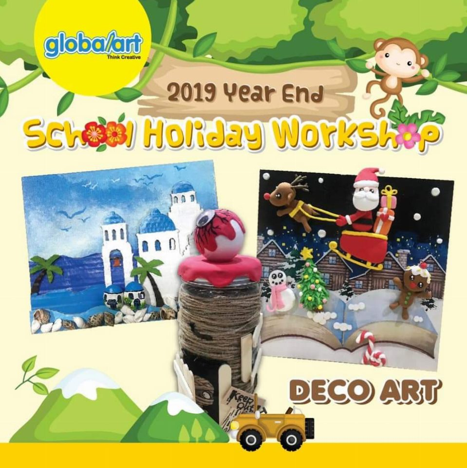 2019 Year End School Holiday Workshop – Deco Art