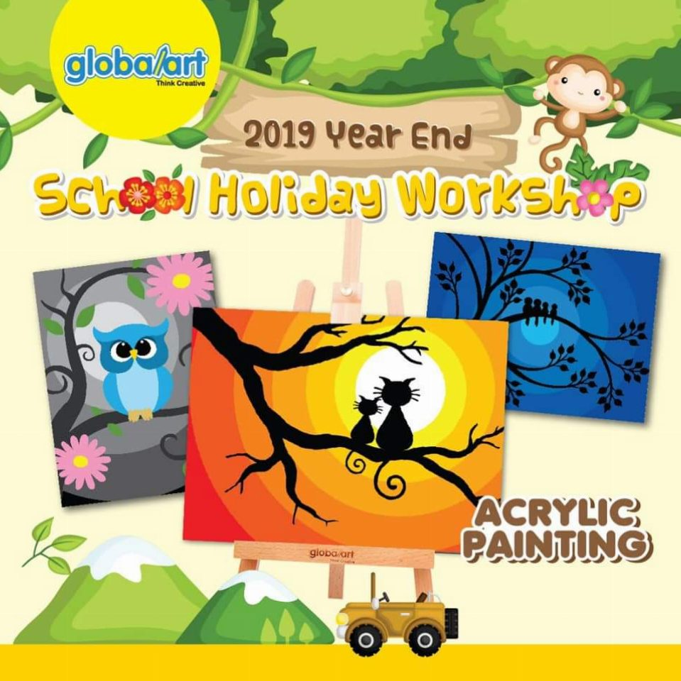 2019 Year End School Holiday Workshop – Acrylic Painting